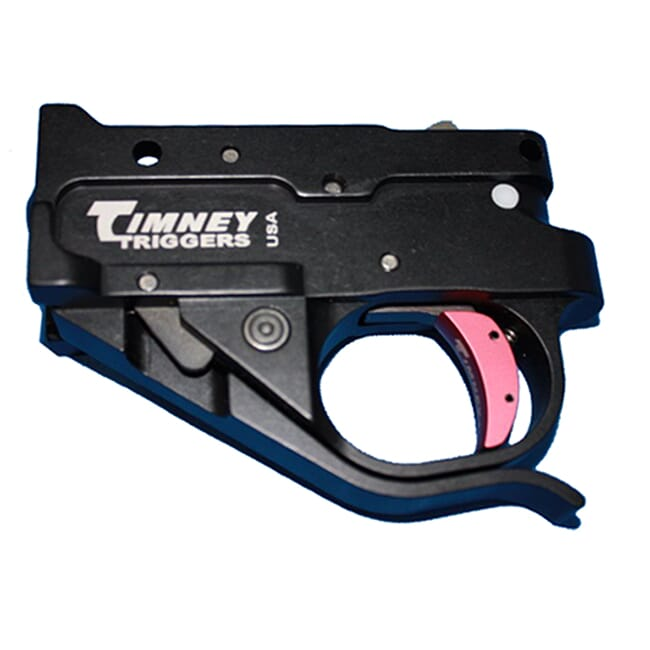 Timney Ruger 10/22 Silver Housing, Black shoe kit Trigger 1022-1C-16