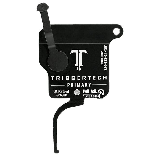 TriggerTech Rem 700 Clone Primary Flat Clean Blk/Blk Single Stage Trigger R70-SBB-14-TNF
