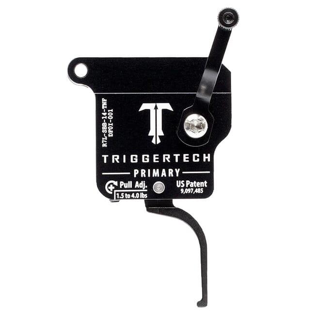 TriggerTech Rem 700 Clone LH Primary Flat Clean Blk/Blk Single Stage Trigger R7L-SBB-14-TNF