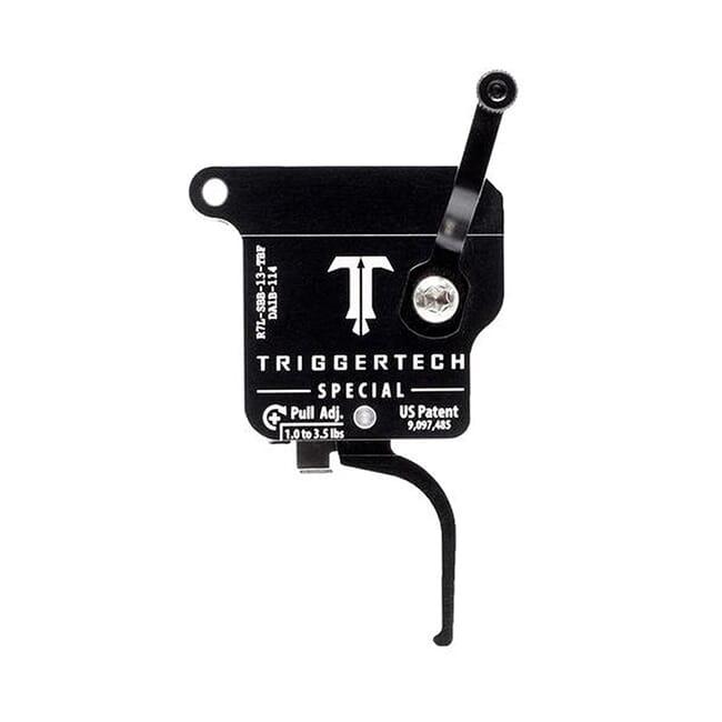 TriggerTech Rem 700 Factory LH Special Flat Blk/Blk Single Stage Trigger R7L-SBB-13-TBF