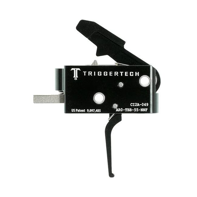 TriggerTech AR15 Combat Flat Blk/Blk Two Stage Trigger AR0-TBB-55-NNF