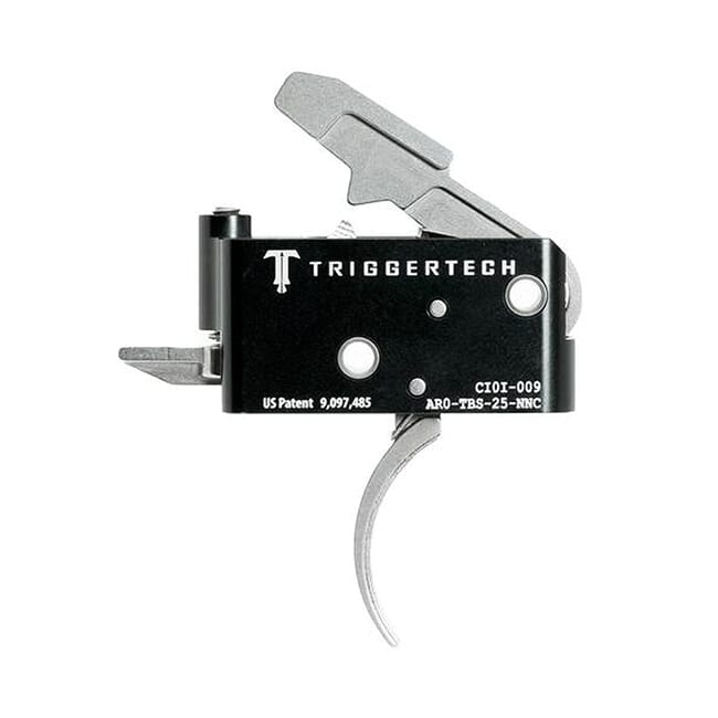 TriggerTech AR15 Adaptable Curved SS/Blk Two Stage Trigger AR0-TBS-25-NNC