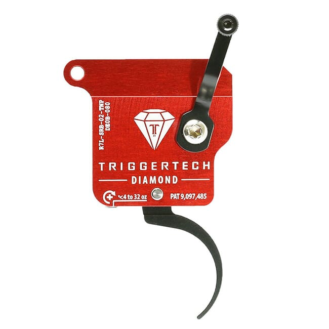 TriggerTech Rem 700 Clone LH Diamond Pro Clean Blk/Red Single Stage Trigger R7L-SRB-02-TNP