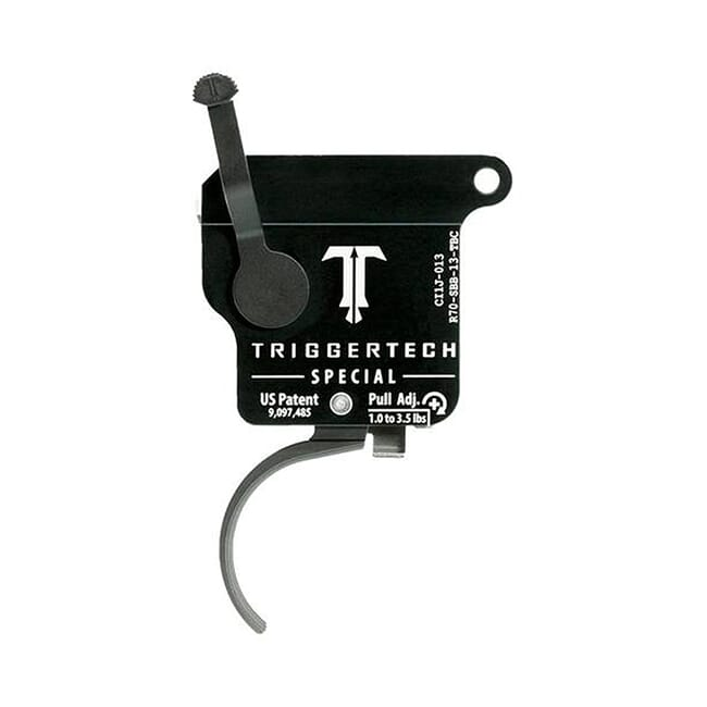 TriggerTech Rem 700 Factory Special Curved Blk/Blk Single Stage Trigger R70-SBB-13-TBC