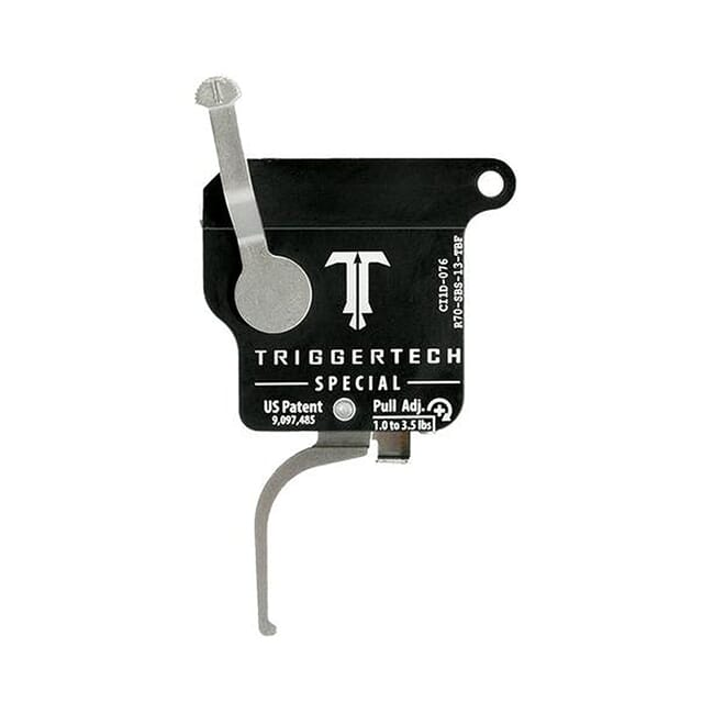 TriggerTech Rem 700 Factory Special Flat SS/Blk Single Stage Trigger R70-SBS-13-TBF