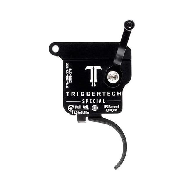 TriggerTech Rem 700 Factory LH Special Curved Blk/Blk Single Stage Trigger R7L-SBB-13-TBC