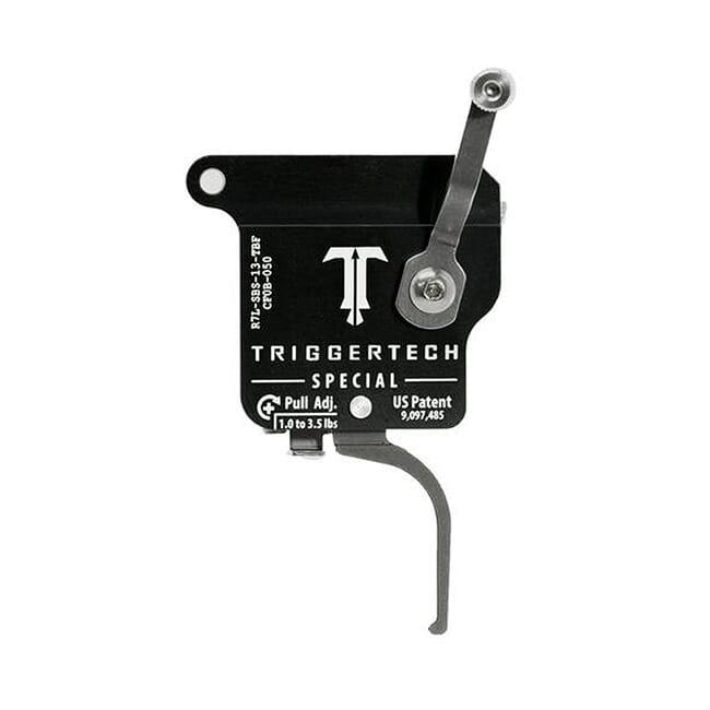 TriggerTech Rem 700 Factory LH Special Flat SS/Blk Single Stage Trigger R7L-SBS-13-TBF