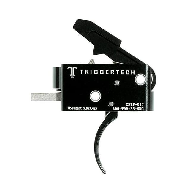 TriggerTech AR15 Competitive Curved Blk/Blk Two Stage Trigger AR0-TBB-33-NNC