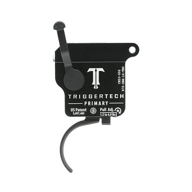 TriggerTech Rem 700 Factory Primary Curved Blk/Blk Single Stage Trigger R70-SBB-14-TBC