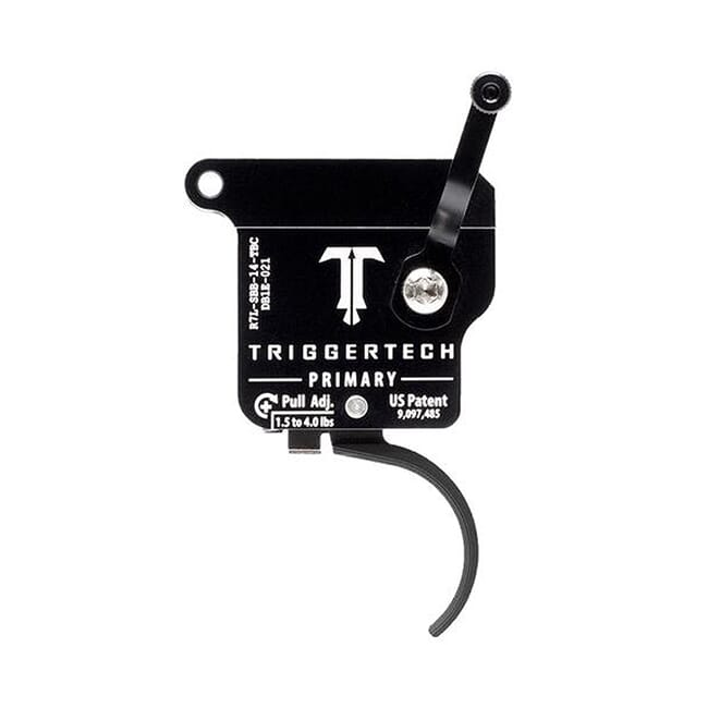 TriggerTech Rem 700 Factory LH Primary Curved Blk/Blk Single Stage Trigger R7L-SBB-14-TBC