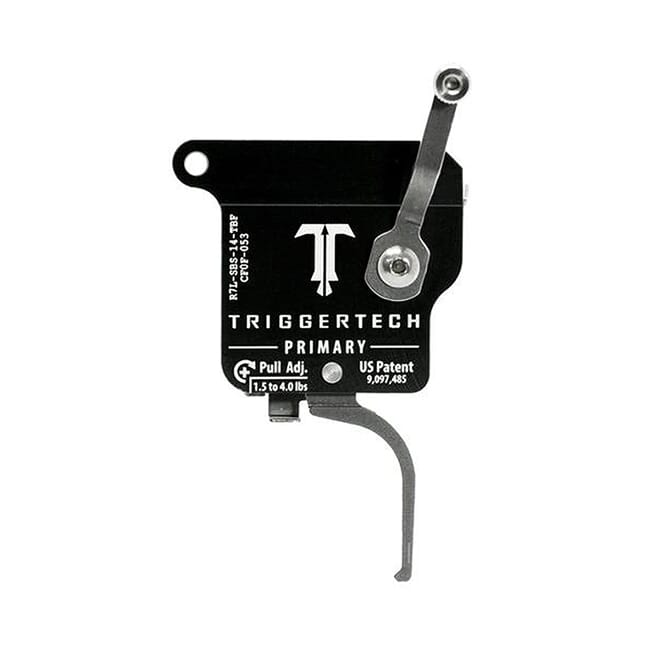 TriggerTech Rem 700 Factory LH Primary Flat SS/Blk Single Stage Trigger R7L-SBS-14-TBF