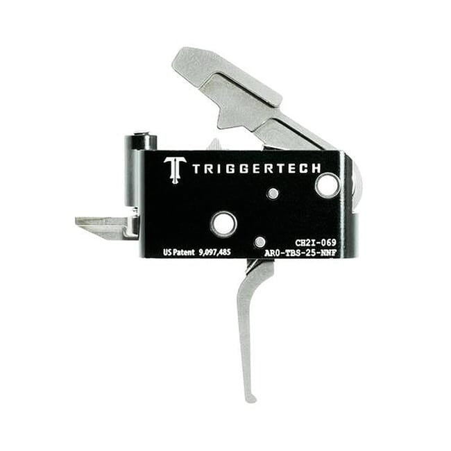 TriggerTech AR15 Adaptable Flat SS/Blk Two Stage Trigger AR0-TBS-25-NNF