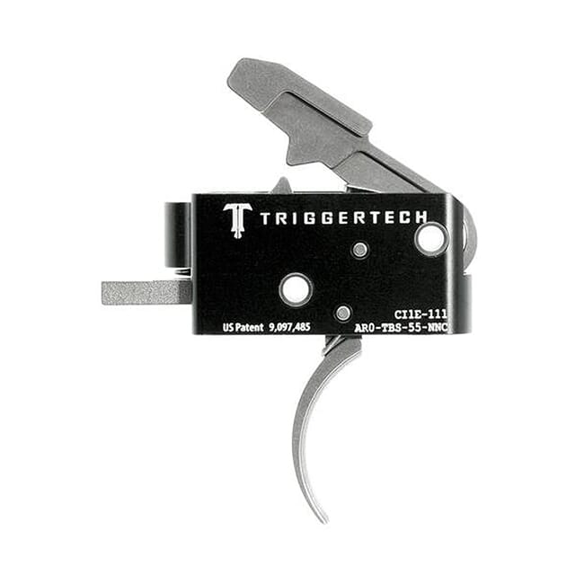 TriggerTech AR15 Combat Curved SS/Blk Two Stage Trigger AR0-TBS-55-NNC