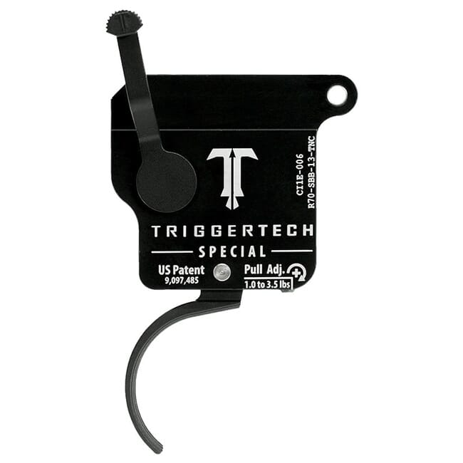 TriggerTech Rem 700 Clone Special Curved Clean Blk/Blk Single Stage Trigger R70-SBB-13-TNC