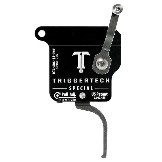 TriggerTech Rem 700 Clone LH Special Flat Clean SS/Blk Single Stage Trigger R7L-SBS-13-TNF