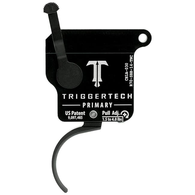 TriggerTech Rem 700 Clone Primary Curved Clean Blk/Blk Single Stage Trigger R70-SBB-14-TNC