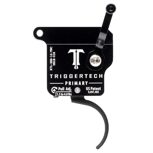TriggerTech Rem 700 Clone LH Primary Curved Clean Blk/Blk Single Stage Trigger R7L-SBB-14-TNC