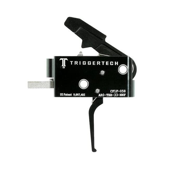 TriggerTech AR15 Competitive Flat Blk/Blk Two Stage Trigger AR0-TBB-33-NNF