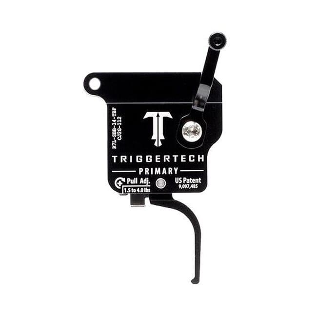 TriggerTech Rem 700 Factory LH Primary Flat Blk/Blk Single Stage Trigger R7L-SBB-14-TBF