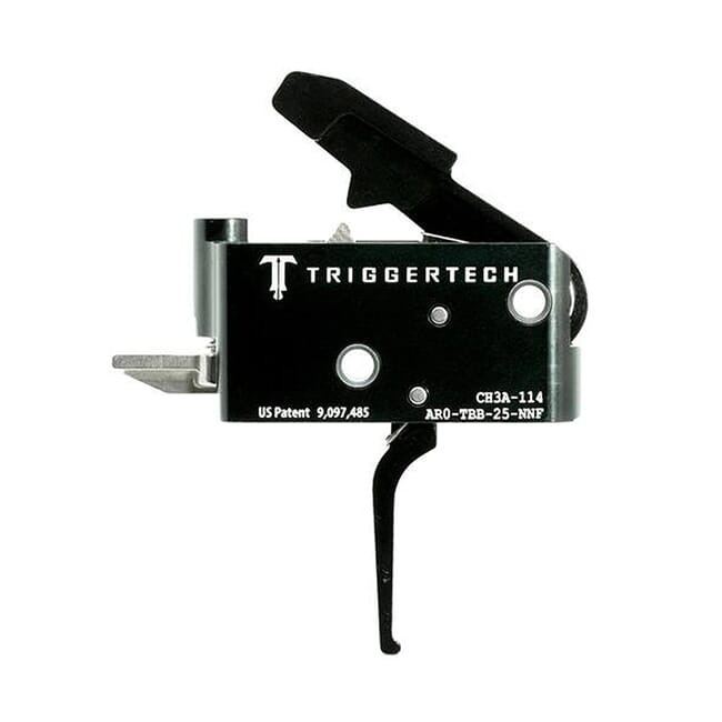 TriggerTech AR15 Adaptable Flat Blk/Blk Two Stage Trigger AR0-TBB-25-NNF