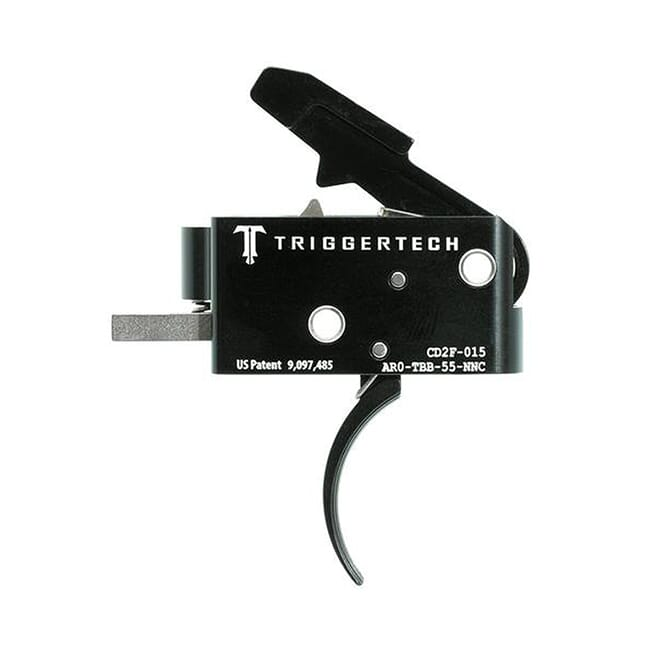 TriggerTech AR15 Combat Curved Blk/Blk Two Stage Trigger AR0-TBB-55-NNC