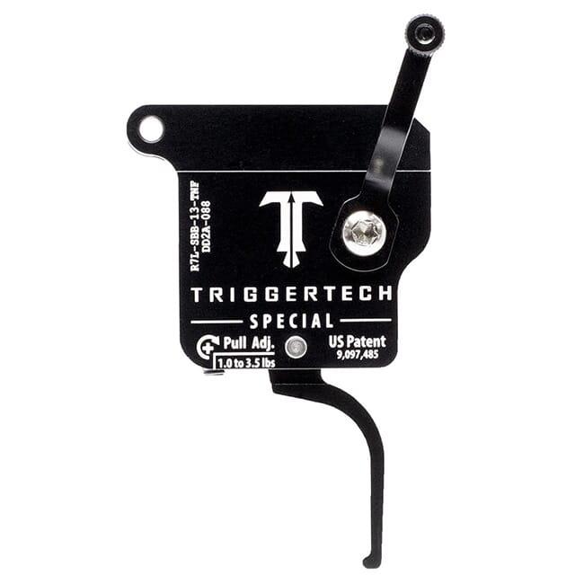 TriggerTech Rem 700 Clone LH Special Flat Clean Blk/Blk Single Stage Trigger R7L-SBB-13-TNF