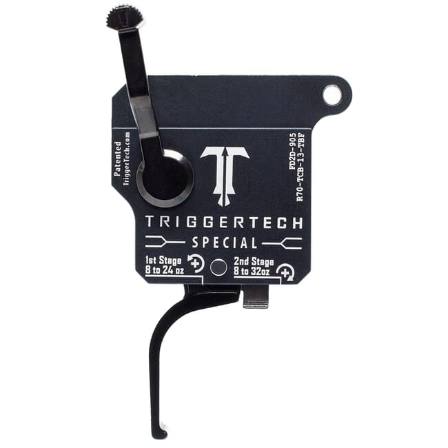 TriggerTech Rem 700 Factory RH Two Stage Blk/Grey Special Flat 1.1-4.0 lbs Trigger R70-TCB-13-TBF