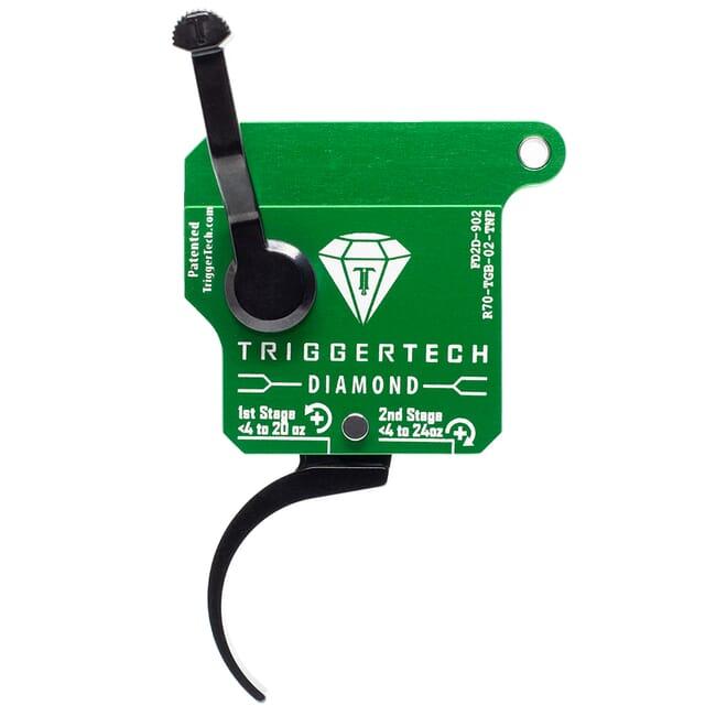 TriggerTech Rem 700 Clone RH Two Stage Blk/Grn Diamond Pro Clean 0.4-3.0 lbs Trigger R70-TGB-03-TNP