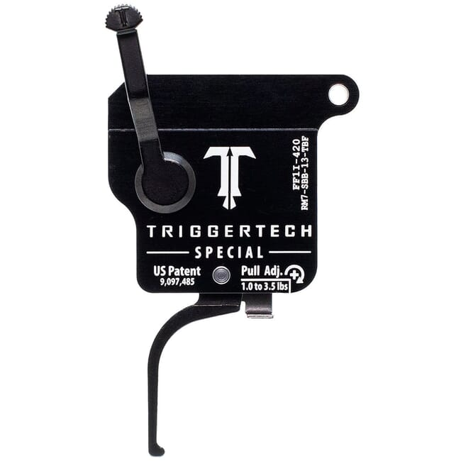 TriggerTech Remington Model 7 RH Single Stage Blk/Blk Special Flat 1.0-3.5 lbs Trigger RM7-SBB-13-TBF
