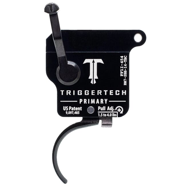 TriggerTech Remington Model 7 RH Single Stage Blk/Blk Primary Curved 1.5-4.0 lbs Trigger RM7-SBB-14-TBC