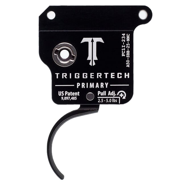 TriggerTech Armalite AR50 Single Stage Blk/Blk Primary Curved Clean 2.5-4.5 lbs Trigger A50-SBB-24-NNC