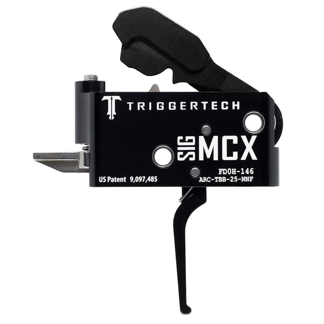 TriggerTech MCX Two Stage Blk/Blk Adaptable Flat 2.5-5.0 lbs Trigger ARC-TBB-25-NNF