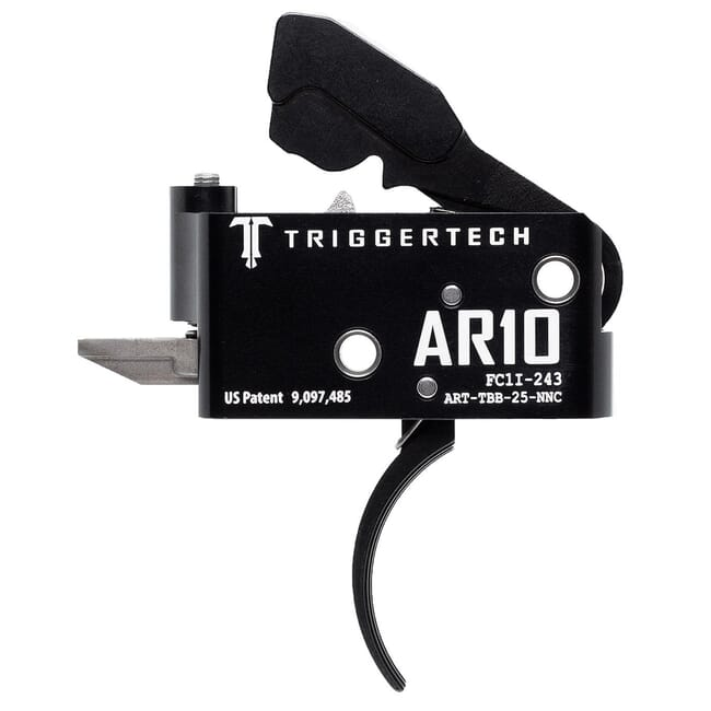 TriggerTech AR10 Two Stage Blk/Blk Adaptable Curved 2.5-5.0 lbs Trigger ART-TBB-25-NNC