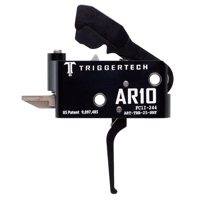 TriggerTech AR10 Two Stage Blk/Blk Adaptable Flat 2.5-5.0 lbs Trigger ART-TBB-25-NNF
