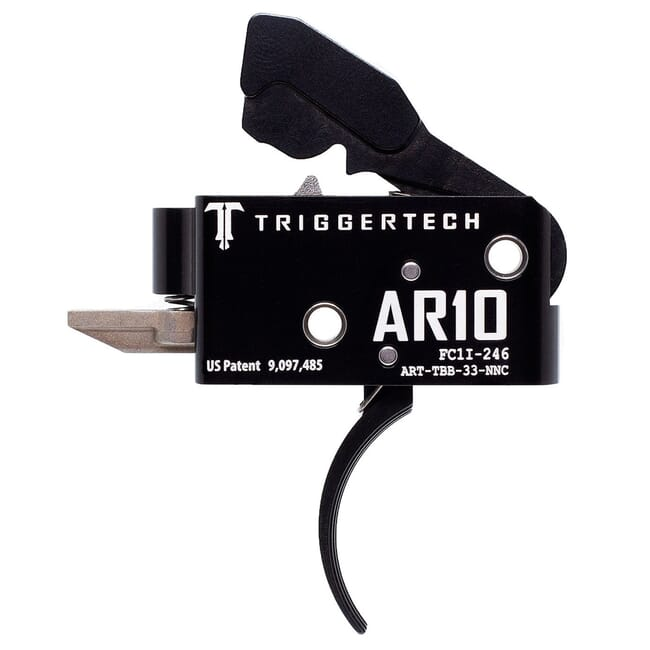 TriggerTech AR10 Two Stage Blk/Blk Competitive Curved 3.5 lbs Trigger ART-TBB-33-NNC