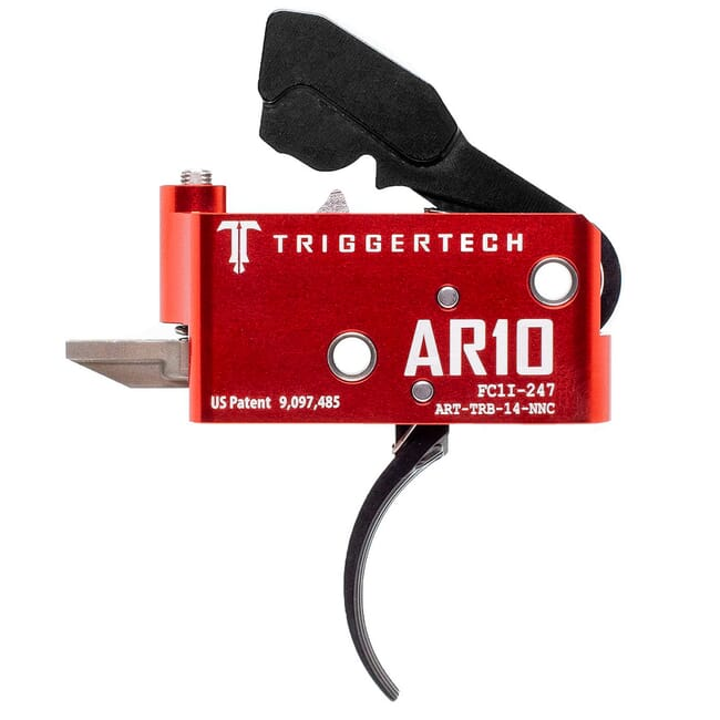 TriggerTech AR10 Two Stage Blk/Red AR Diamond Curved 1.5-4.0 lbs Trigger ART-TRB-14-NNC