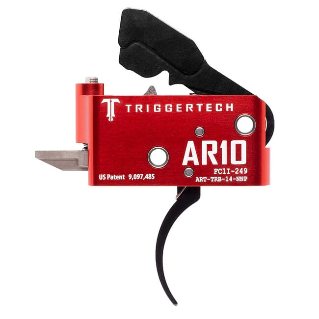 TriggerTech AR10 Two Stage Blk/Red AR Diamond Pro 1.5-4.0 lbs Trigger ART-TRB-14-NNP