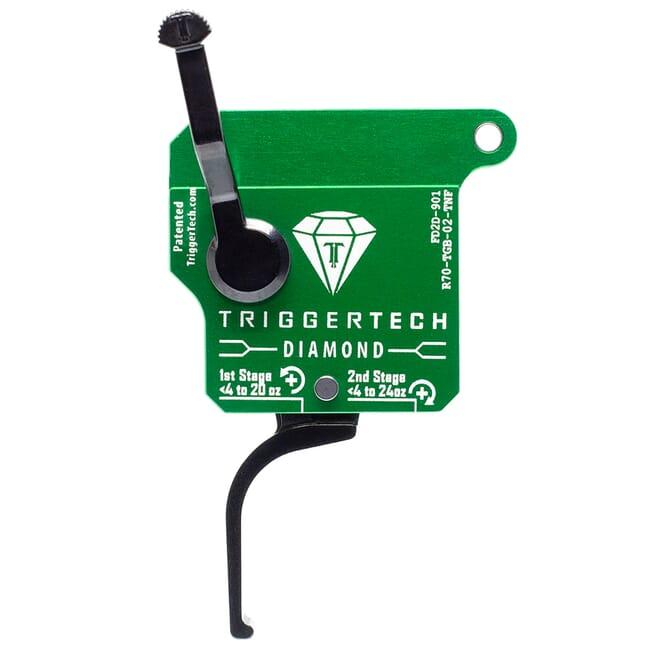 TriggerTech Rem 700 Clone RH Two Stage Blk/Grn Diamond Flat Clean 0.4-3.0 lbs Trigger R70-TGB-02-TNF