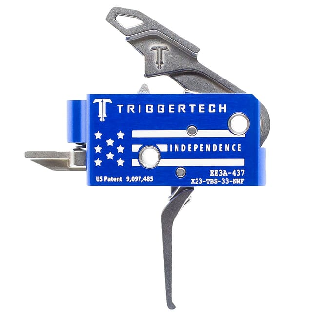 TriggerTech Special Edition Independence AR15 Competitive Flat Blue Two Stage Trigger X23-TBS-33-NNF