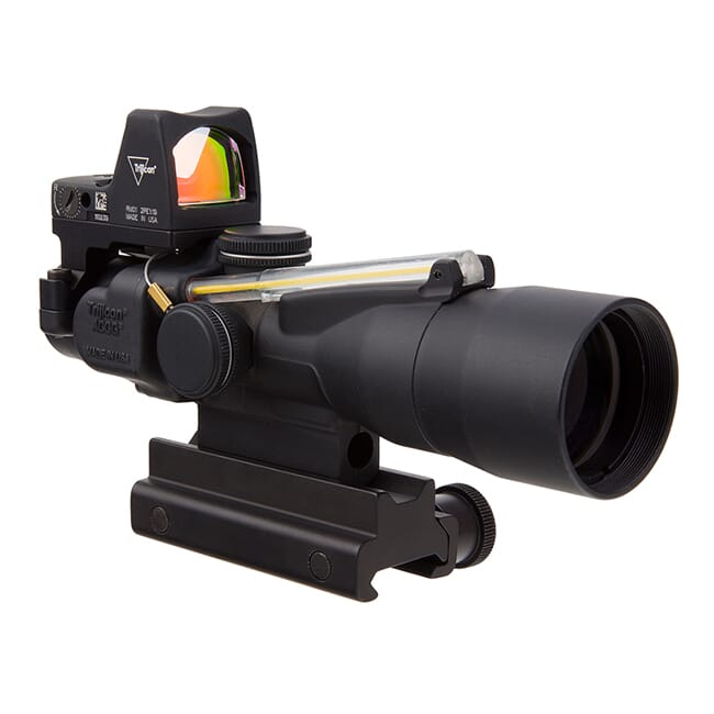 Trijicon 3x30 Compact ACOG Dual Illum Amber Horseshoe/Dot 5.56/62gr. Ballistic Reticle - LED 3.25 MOA Red Dot RMR Type 2  TA33-C-400312