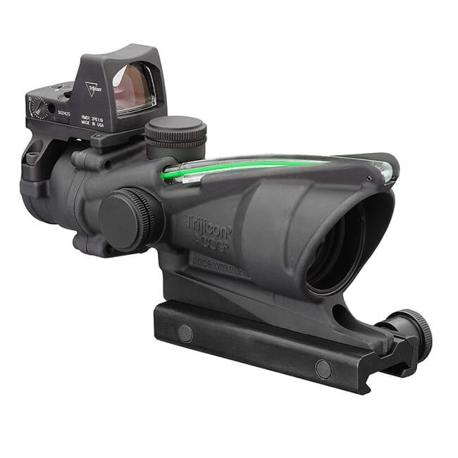 Trijicon 4x32 ACOG Dual Illum Green Crosshair .223 Reticle w/Colt Knob Mount - LED 3.25 MOA Red Dot RMR Type 2 TA31-C-100552