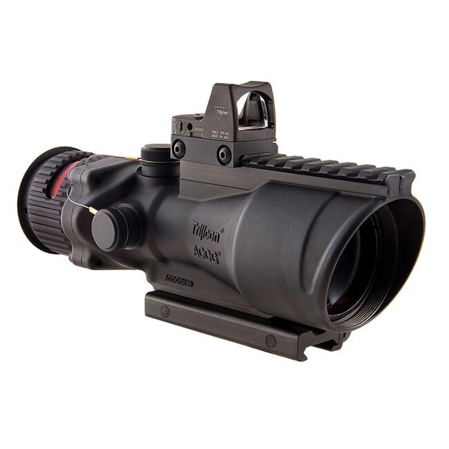 Trijicon 6x48 ACOG Dual Illum Red Chevron .308 Reticle w/Colt Knob Mount - LED 6.5 MOA Red Dot RMR Type 2 TA648-D-100560