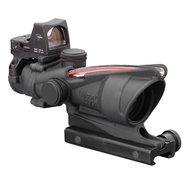 Trijicon 4x32 ACOG Dual Illum Red Crosshair .223 Reticle w/Colt Knob Mount - LED 3.25 MOA Red Dot RMR Type 2 TA31-C-100550
