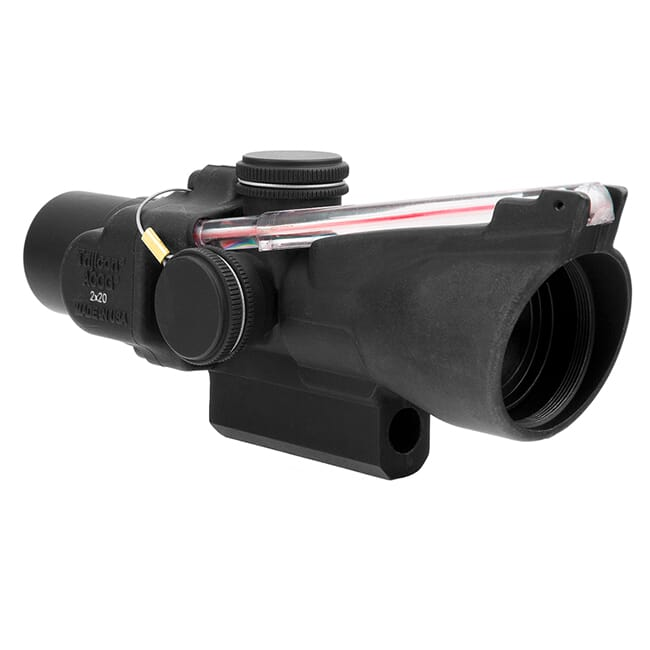Trijicon 2x20 Compact ACOG Scope Dual Illum Red Crosshair w/ M16 Carry Handle Base & Mounting Screw  400151