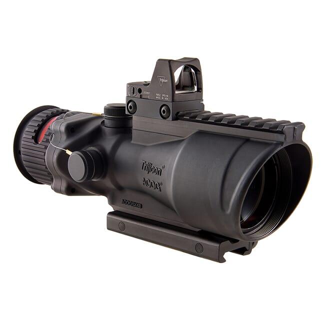 Trijicon 6x48 ACOG Dual Illum Red Chevron .50 BMG Reticle w/Colt Knob Mount - LED 6.5 MOA Red Dot RMR Type 2 TA648-D-100562