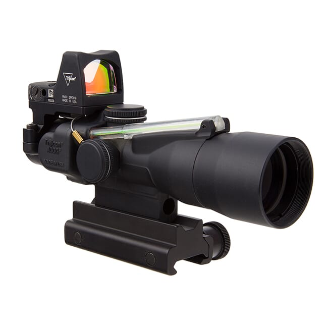 Trijicon 3x30 Compact ACOG Dual Illum Green Horseshoe/Dot 5.56/62gr. Ballistic Reticle - LED 3.25 MOA Red Dot RMR Type 2 TA33-C-400311