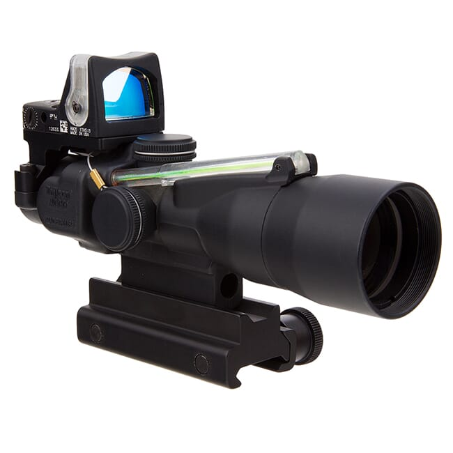 Trijicon 3x30 Compact ACOG Scope Dual Illum Green Chevron