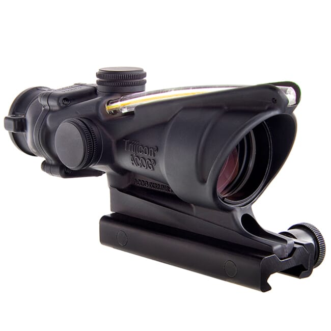 Trijicon ACOG 4x32 Scope, Dual Illuminated Amber Crosshair 300 BLK Reticle w/ TA51 Mount 100412