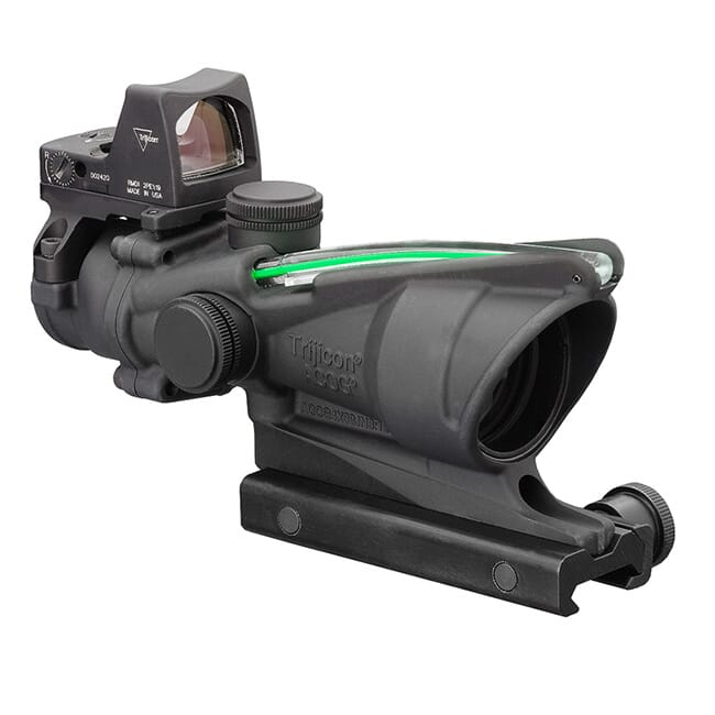 Trijicon 4x32 ACOG Dual Illum Green Chevron .223 Reticle w/Colt Knob Mount - LED 3.25 MOA Red Dot RMR Type 2 TA31-D-100548