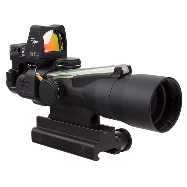 Trijicon 3x30 Compact ACOG Scope, Dual Illum Amber Chevron